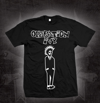 Operation Ivy- Rude Boy on a black shirt (Sale price!)