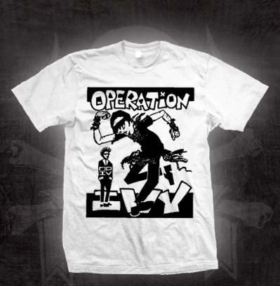 Operation Ivy- Skankin' on a white TODDLER shirt (Sale price!)