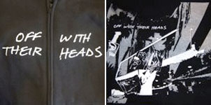 Off With Their Heads- Logo on front, From The Bottom on back of a black zip up hooded sweatshirt