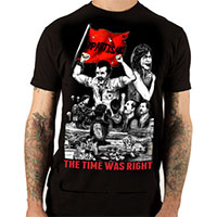 Partisans- The Time Was Right on a black ringspun cotton shirt by Lethal Amounts