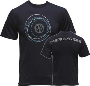 Pennywise- Circlewise on front, Logo on back on a blue shirt (Sale price!)