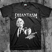 Phantasm- Tall Man on a black shirt
