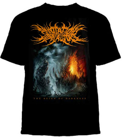 Annotations Of An Autopsy- The Reign Of Darkness on back on a black shirt (Sale price!)