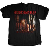 Bathory- Under The Sign Of The Black Mark on front, Goat Head on back on a black shirt