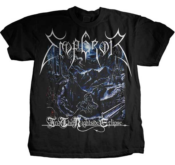 Emperor- In The Nightside Eclipse on a black shirt