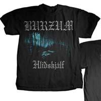 Burzum- Hlidskjalf on front &  back on a black shirt