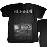 Burzum- Tree on front, When Night Falls on back on a black shirt