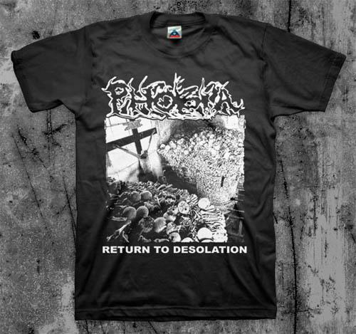 Phobia- Return To Desolation on a black shirt