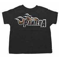 Pantera- Logo on a black TODDLER shirt