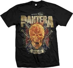 Pantera- Outlaw Skull on a black shirt