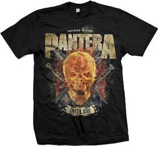 Pantera- Outlaw Skull on a black shirt