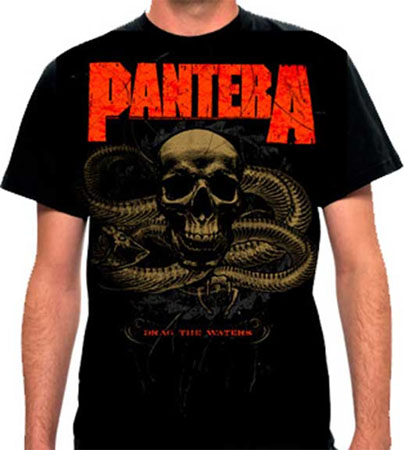 Pantera- Drag The Waters on a black shirt