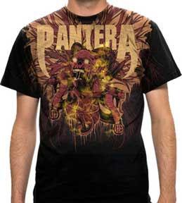 Pantera- Heart Full Of Lies on a black shirt (Sale price!)