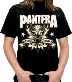 Pantera- Fucking Hostile (Skull) on a black shirt