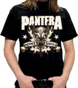 Pantera- Fucking Hostile (Skull) on a black shirt