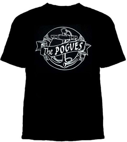 Pogues- Life Preserver & Anchor on a black YOUTH sized  shirt (Sale price!)