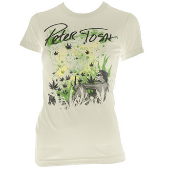Peter Tosh- Natural Dreams on a cream girls fitted shirt (Sale price!)