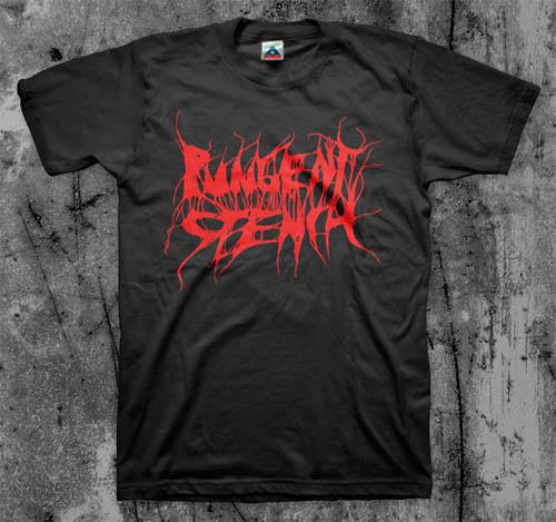 Pungent Stench- Logo on a black shirt