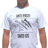 Anti Pasti- Six Guns (Guns Pic) on a white YOUTH sized shirt