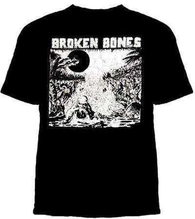 Broken Bones- Swamp on a black shirt (Sale price!) 2X & 3X only