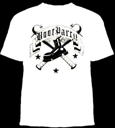 Boot Party- Boot And Bats on a white shirt (Sale price!)