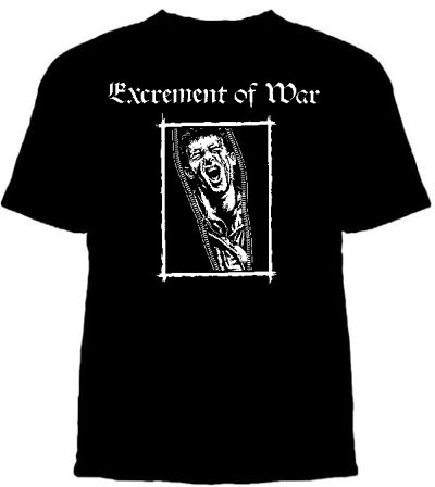Excrement Of War- Face on a black shirt (Sale price!)
