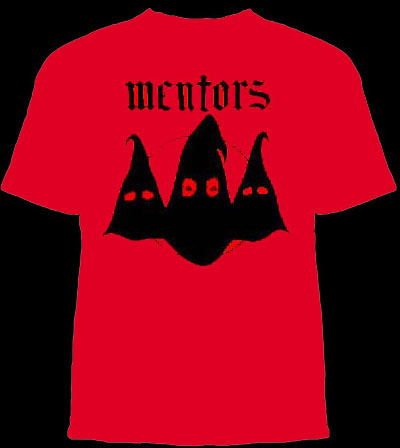 Mentors- Hoods on a red YOUTH sized shirt