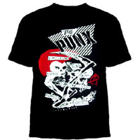 Punx on a black youth size shirt (Japanese Punk Bands- GISM, Lip Cream, Gas, Laughin Nose, Cobra) (Sale price!)