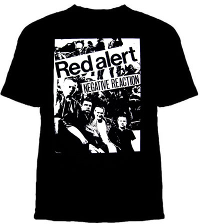 Red Alert- Negative Reaction on a black YOUTH sized shirt (Sale price!)