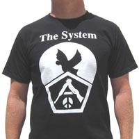 System- Bird & Cracked Gun on a black shirt (Sale price!)