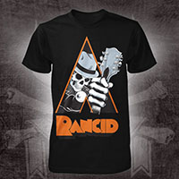 Rancid- Clockwork Orange on a black shirt (Sale price!)