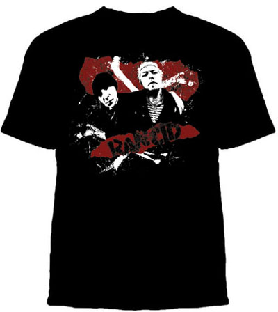 Rancid- Tim & Lars on a black shirt (Sale price!)