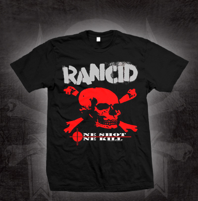 Rancid- One Shot One Kill on a black shirt - Sale sz S only