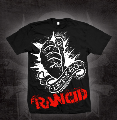Rancid- Let's Go Monster Print on a black shirt (Sale price!)
