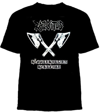 Rajoitus- Axes on a black shirt (Sale price!)