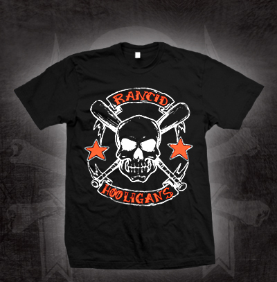 Rancid- Hooligans on a black shirt (Sale price!)