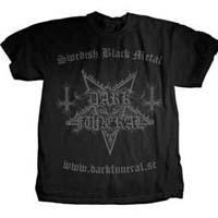 Dark Funeral- Swedish Black Metal on front, Hail Metal on back on a black shirt