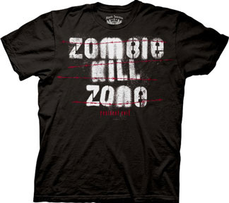 Resident Evil- Zombie Kill Zone on a black shirt (Sale price!)