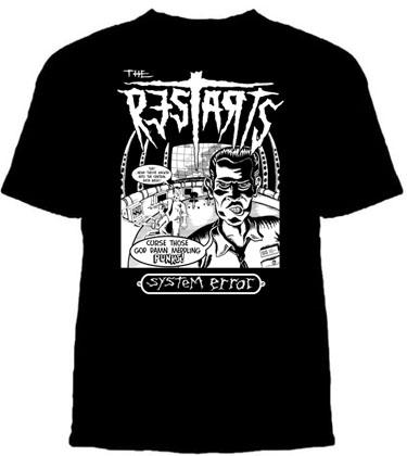 Restarts- System Error on a black shirt