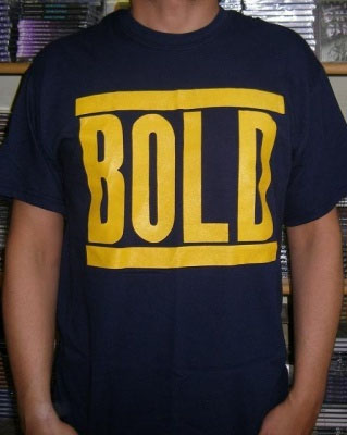 Bold- Logo on a navy shirt (Sale price!)