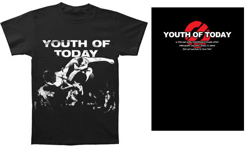 Youth Of Today- Live Pic on front, Logo on back shirt (Sale price!)