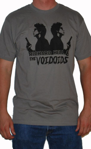 Richard Hell & The Voidoids- Double Gun Pic on a grey ringspun cotton shirt (Sale price!)