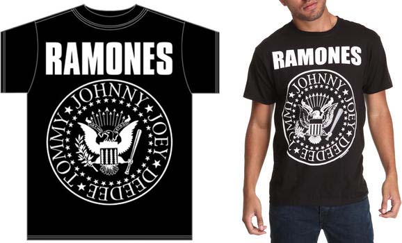 Ramones- Giant Presidential Seal on a black shirt