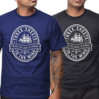 Three Sheets Shirt by Steady Clothing - choose royal blue or black - SALE sz S only
