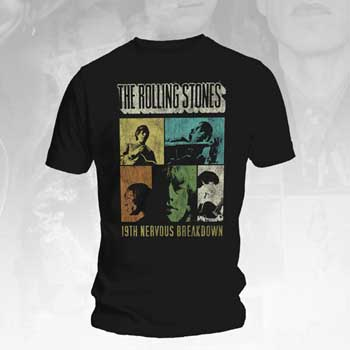 Rolling Stones- 19th Nervous Breakdown on a black shirt