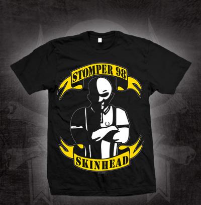 Stomper 98- Skinhead on a black shirt (Sale price!)