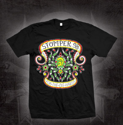 Stomper 98- For The Die Hards on a black shirt (Sale price!)
