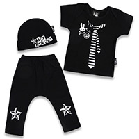 Punk Rock Starter Kit Gift Set by Six Bunnies (S:0-3m, M:3-6m, L:6-12m)
