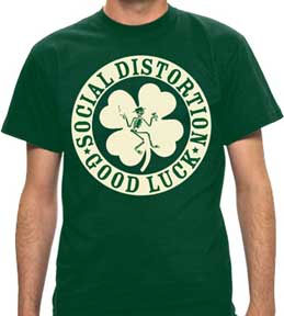 Social Distortion- Good Luck on a green shirt (Sale price!)
