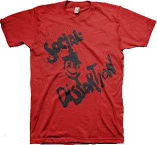 Social Distortion- Face on a red shirt